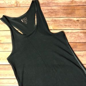 Splits59 green slick back rackerback tank top
